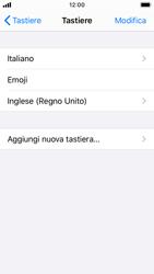 Apple iPhone SE - iOS 13 - Operazioni iniziali - Come aggiungere una lingua alla tastiera - Fase 8