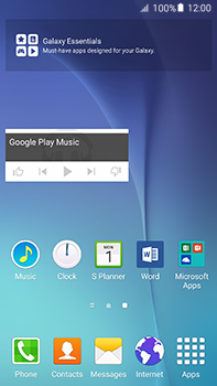 Samsung Galaxy A8 - Getting started - Installing widgets and applications on your start screen - Step 9