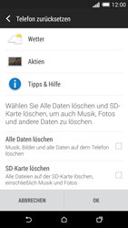 HTC One M8 - Gerät - Zurücksetzen auf die Werkseinstellungen - Schritt 6