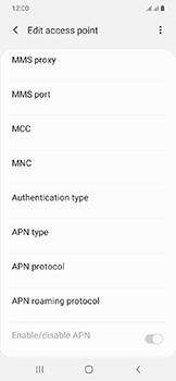 Samsung Galaxy A20e - Internet - Manual configuration - Step 14
