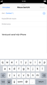 Apple iPhone 6 Plus - iOS 11 - E-mail - E-mails verzenden - Stap 6