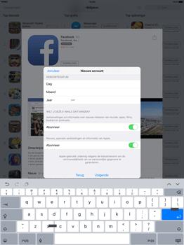 Apple iPad Pro 12.9 inch met iOS9 (Model A1652) - Applicaties - Account aanmaken - Stap 14