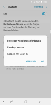 Samsung Galaxy S8 - Android Oreo - Bluetooth - Geräte koppeln - Schritt 10