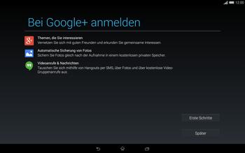 Sony Xperia Tablet Z2 LTE - Apps - Einrichten des App Stores - Schritt 21