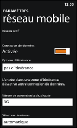 Nokia Lumia 800 / Lumia 900 - Internet et roaming de données - Désactivation du roaming de données - Étape 7