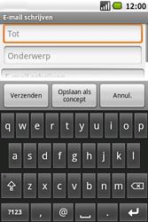 Samsung Galaxy Spica (GT-i5700) - E-mail - Hoe te versturen - Stap 6