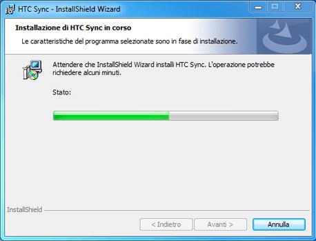 HTC Desire X - Software - Installazione del software di sincronizzazione PC - Fase 11
