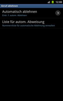 Samsung N7000 Galaxy Note - Anrufe - Anrufe blockieren - Schritt 6