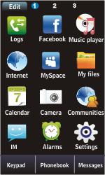 Samsung S5620 Monte - E-mail - Manual configuration - Step 3