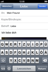 Apple iPhone 4 S - E-Mail - E-Mail versenden - 11 / 13