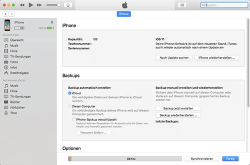 Apple iPhone 6 - Software - Sicherungskopie Ihrer Daten erstellen - 0 / 0
