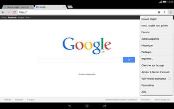 Sony Xperia Tablet Z2 LTE - Internet et roaming de données - Navigation sur Internet - Étape 13