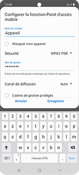 Samsung Galaxy A51 - WiFi - Comment activer un point d'accès WiFi - Étape 9