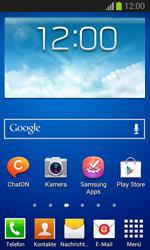 Samsung Galaxy Trend Lite - Startanleitung - Installieren von Widgets und Apps auf der Startseite - Schritt 1