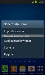 Samsung Galaxy Trend Lite - Operazioni iniziali - Installazione di widget e applicazioni nella schermata iniziale - Fase 4