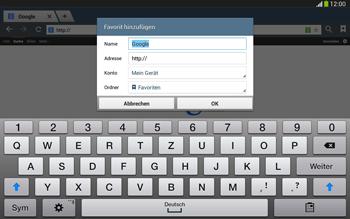 Samsung Galaxy Tab 3 10-1 LTE - Internet und Datenroaming - Verwenden des Internets - Schritt 7