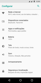 Motorola Moto G6 Play - Wi-Fi - Como configurar uma rede wi fi - Etapa 4