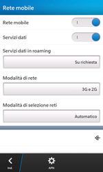 BlackBerry Z10 - Internet e roaming dati - Configurazione manuale - Fase 7