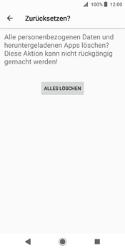 Sony Xperia XZ2 - Fehlerbehebung - Handy zurücksetzen - 10 / 12