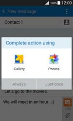 Samsung J100H Galaxy J1 - MMS - Sending pictures - Step 14