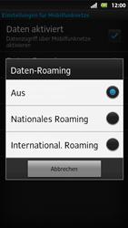 Sony Xperia Sola - Ausland - Im Ausland surfen – Datenroaming - 9 / 12