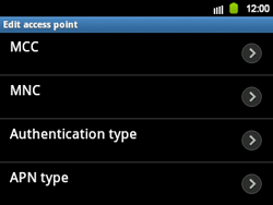 Samsung B5510 Galaxy TXT - MMS - Manual configuration - Step 12