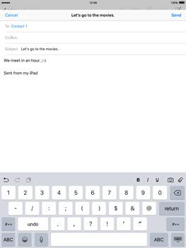 Apple iPad 2 iOS 9 - E-mail - Sending emails - Step 8