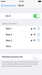 Apple iPhone 5s iOS 10 - WiFi - Configurazione WiFi - Fase 5