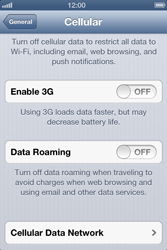 Apple iPhone 4 - Internet and data roaming - Disabling data roaming - Step 6