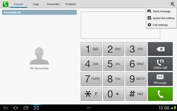 Samsung N8000 Galaxy Note 10-1 - Voicemail - Manual configuration - Step 5
