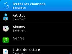 BlackBerry 9720 - Photos, vidéos, musique - Ecouter de la musique - Étape 5