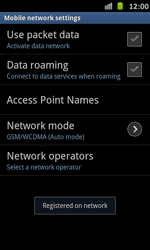 Samsung Galaxy S Advance - Network - Manual network selection - Step 11