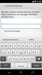 Sony Xperia Z1 - E-Mail - Konto einrichten - Schritt 6