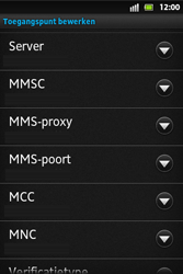 Sony ST27i Xperia Go - MMS - Handmatig instellen - Stap 12