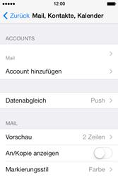 Apple iPhone 4 S mit iOS 7 - E-Mail - Konto einrichten - Schritt 24