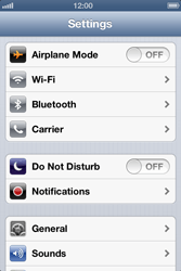 Apple iPhone 4S - Network - Manual network selection - Step 3