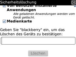 BlackBerry Curve - Fehlerbehebung - Handy zurücksetzen - 11 / 13