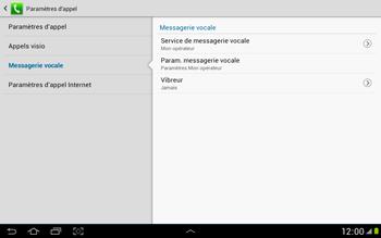 Samsung N8000 Galaxy Note 10-1 - Messagerie vocale - Configuration manuelle - Étape 7