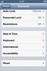 Apple iPhone 4 - Mobile phone - Resetting to factory settings - Step 5