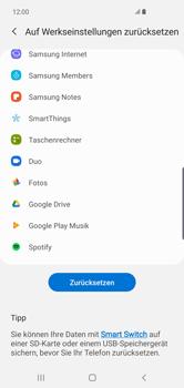 Samsung Galaxy S10 Plus - Fehlerbehebung - Handy zurücksetzen - Schritt 9