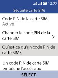Alcatel 3088X - Sécuriser votre mobile - Personnaliser le code PIN de votre carte SIM - Étape 5