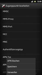 Sony Xperia S - Internet und Datenroaming - Manuelle Konfiguration - Schritt 15