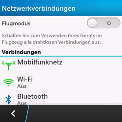 BlackBerry Q10 - WiFi - WiFi-Konfiguration - Schritt 5