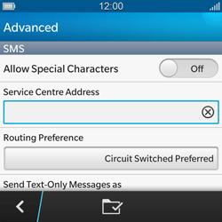 BlackBerry Q10 - SMS - Manual configuration - Step 8