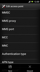 Sony Xperia J - MMS - Manual configuration - Step 14