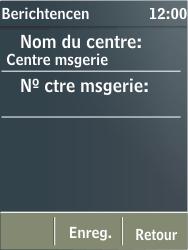 Nokia X3-02 - SMS - Configuration manuelle - Étape 7