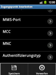 Samsung S5360 Galaxy Y - MMS - Manuelle Konfiguration - Schritt 11