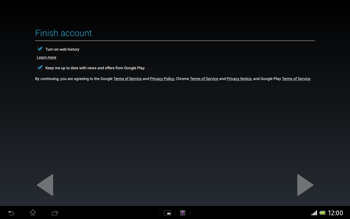 Sony Xperia Tablet Z LTE - Applications - Setting up the application store - Step 19