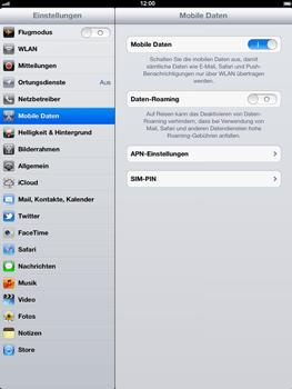 Apple iPad 3 - Ausland - Im Ausland surfen – Datenroaming - Schritt 6