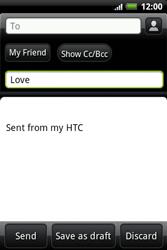 HTC A510e Wildfire S - E-mail - Sending emails - Step 7